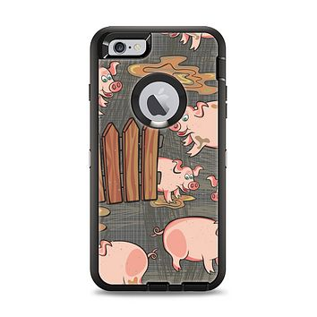 The Cartoon Muddy Pigs Apple iPhone 6 Plus Otterbox Defender Case Skin Set