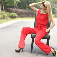 Casual Red JumpSuit