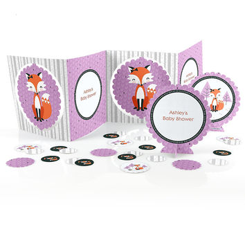 Baby Shower Table Decorating Kit - Miss Foxy Fox