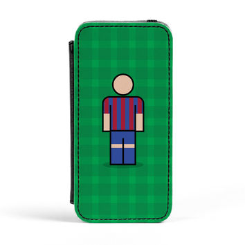 Barcelona Premium Faux PU Leather Case Flip Case for Apple iPhone 5 / 5s by Blunt Football European
