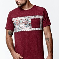 On The Byas Santee Chest Panel Pocket Crew T-Shirt - Mens Tee - Red