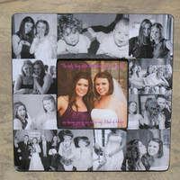 """Personalized Maid of Honor Frame, Custom Wedding Collage Picture Frame 8"""" x 8"""""""