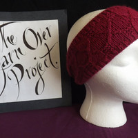 Hand-knit Diamonds Are Forever Headband
