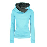 Women Long Sleeve Hoodie Sweatshirt Sweater Hooded Cotton Coat Pullover