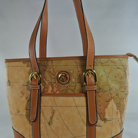 Show Me The World Handbag in Soft Chocolate