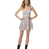 Aeropostale  Womens Southwest Stripe Dress - Orange, X-Small