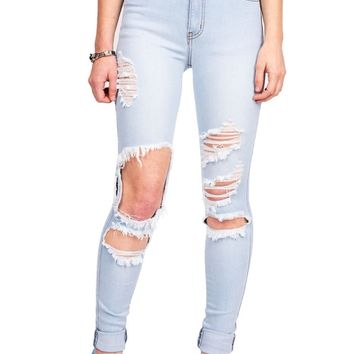 Trashed High Waist Jeans