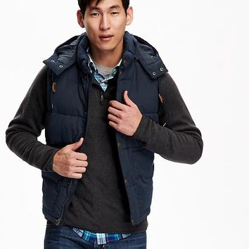 Old Navy Mens Hooded Quilted Vest