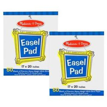 Melissa & Doug® Easel Pad (17 x 20 inches) - 50 Sheets, 2-Pack