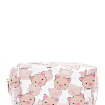 Clear Piggy Makeup Bag