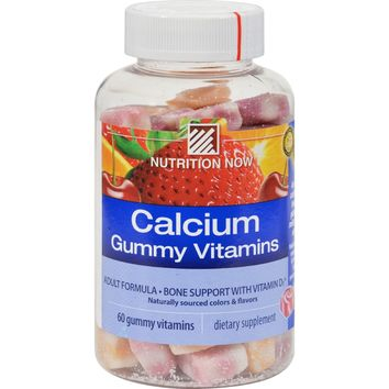 Nutrition Now Calcium + D3 Gummy Vitamins - 60 Gummies
