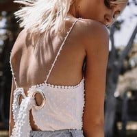 Summer Tops Spaghetti Strap Backless T-shirts [10786295119]