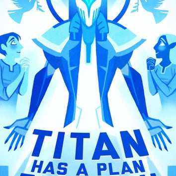 Titan's Plan Art Print by Ava's Demon Print Shop!