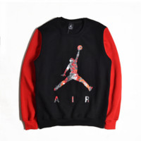 Basketball sweater men 's head sports long - sleeved autumn and winter coat round neck 23 jersey trend ball clothes