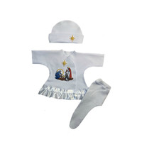 Baby Girls' Joy to the World Nativity Christmas Dress