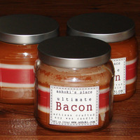 THE Ultimate Bacon Candle -- Bacon Scented Soy Wax Container Candle 18 oz
