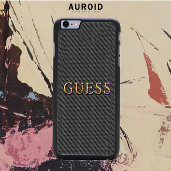 GUESS WATCHES LOGO CARBON IPhone 6S Plus Case Auroid