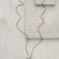 Sparked Crescent Pendant Necklace by Anthropologie Gold One Size Necklaces