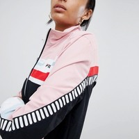 Fila Retro Tracksuit Jacket Co-Ord In Colourblock at asos.com