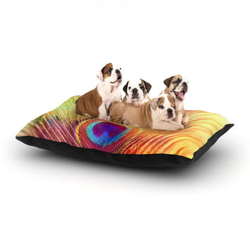 "Sylvia Cook ""Peacock Feather"" Dog Bed"