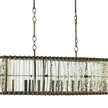 Currey Company Zanzibar Rectangular Chandelier
