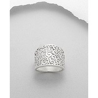 Sterling Silver Curl Ring - Size 7, 8