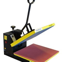 Fancierstudio 15-by-15-Inch Digital Sublimation Heat Press, Black and Yellow