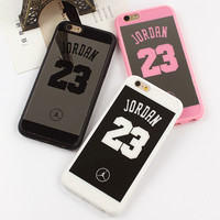 Luxury Jordan 23 Surface Silicon Soft TPU Mirror Case For iphone 7 6 6s 7 plus 5 5s Case Back Cover Chrome Plating Mirror Coque