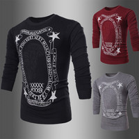 New Style Print Men's Fashion Knit Sweater