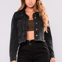 Whats Up Denim Jacket - Black