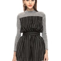 Madison Pin Stripe Sweater Dress
