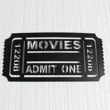 Movie Ticket 12208 Home Theater Decor Metal Wall Art