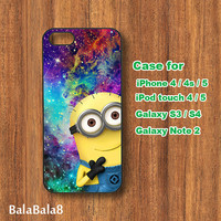 Minion ,Galaxy  - iphone 4 case, Blackberry Q10 , Z10 case, iPhone 4s case,  iPod 5 / 4 case,  Samsung S3, samsung S4 case, Galaxy note 2