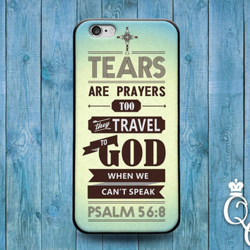 iPhone 4 4s 5 5s 5c 6 6s plus iPod Touch 4th 5th 6th Generation Cool Bible Verse Psalm Christian Book Quote Cover Cute Tear Art Word Case