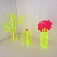 Small Fluorescent Acrylic Cactus Set