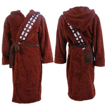 New Star Wars Chewbacca Cosplay Pajamas Adult Men/Women Robes Coral fleece Sleep Tops Halloween,Stage Costumes Unisex