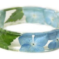 Blue Resin Bangle - Faerie