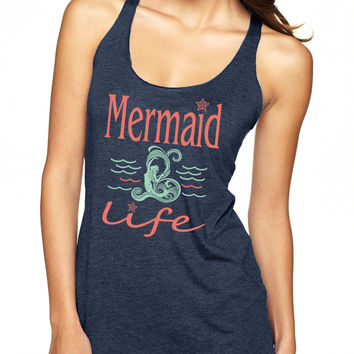 Navy Mermaid Life Tank Top