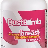 BustBomb - Top Rated Breast Enlargement, Bust Enhancement, Natural Herbal Pills for Women - 90 Capsules