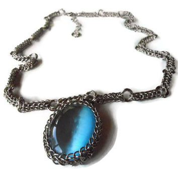Full Persian and Möbius Ring Necklace and Cat's Eye Pendant