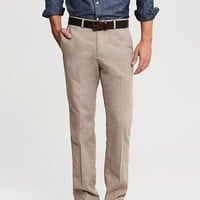Kentfield Vintage Straight-Fit Heathered Tan Cotton Pant