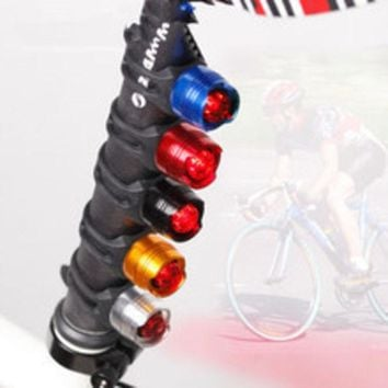 VONC1Y LED Waterproof Bike Bicycle Cycling Front Rear Tail Helmet Red Flash Lights Safety Warning Lamp Safety Caution Light Accessories