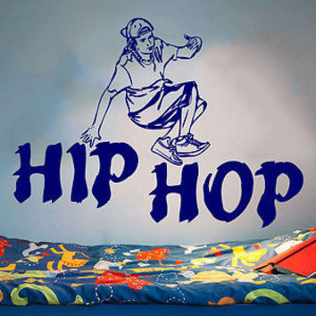 Hip Hop Wall Decal Dance Studio Dancer Dance Vinyl Sticker Decals Decor C112