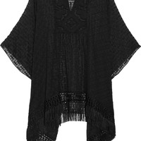 Anna Sui | Poncho-style patterned silk-chiffon top | NET-A-PORTER.COM