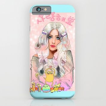Lady Rainicorn, Jake, & the 5 puppies iPhone & iPod Case by Sara Eshak