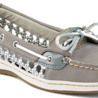 Sperry Top-Sider Angelfish Cane Woven Boat Shoe Gray, Size 7M  Women's Shoes