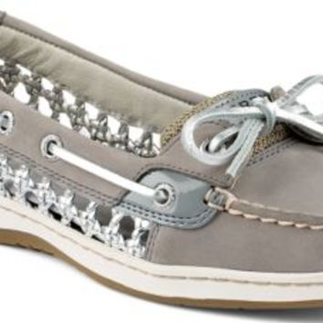 Sperry Top-Sider Angelfish Cane Woven Boat Shoe Gray, Size 9M  Women's Shoes