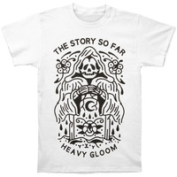 Story So Far Men's  Heavy Gloom Reaper T-shirt White Rockabilia