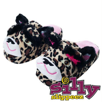 Silly Slippeez - Lucky Leopard - Glow in the Dark - Medium