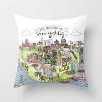 New York City Love Throw Pillow by Brooke Weeber
